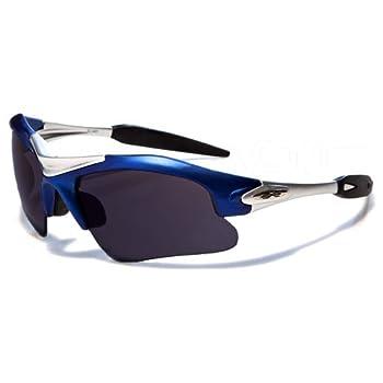 X-Loop Lunettes de Soleil - Sport - Cyclisme - Ski - Conduite - Motard / Mod. 1400 Bleu / Taille Unique Adulte / Protection 100% UV400