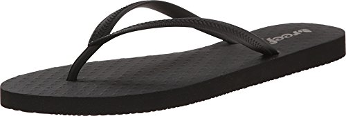 Reef Women's Chakras Flip Flop, Black, 8 M US