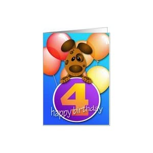 Amazon.com: Puppy 4 Year Old Birthday Card: Toys & Game