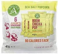 Angie39s Boom Chicka Pop Sea Salt Popcorn Bags Case of 4