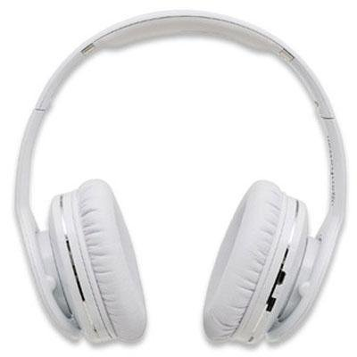 Brand New Manhattan Fathom Over-Ear Headphones With Bluetooth Technology, White