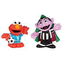 SESAME STREET PLAYSKOOL Soccer Friends Count Von Count & Elmo