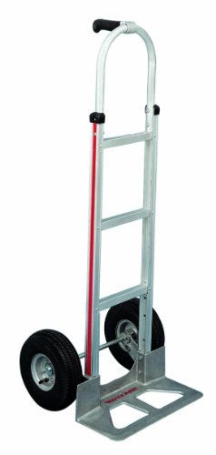 Magline HMK117UA4 Aluminum Hand Truck, Straight  Loop Handle, Pneumatic Wheels, 500lbs Capacity