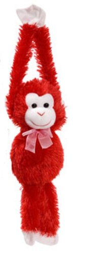 Plush Hanging Valentine's Monkeys, 17¼ In. - 1/ea. - Choose Your Color! (Red)
