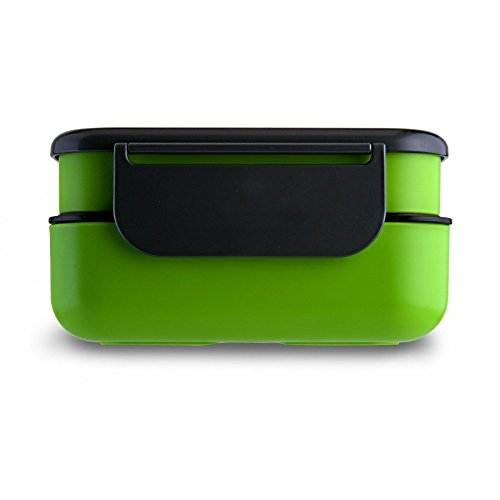 LeOx- Lunchbox Bento Box a compartiment la Boîte bento Boîte Repas Lunch Box 2 etages Food Container - vert