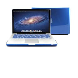 Gmyle (Tm) Blue Clear Crystal See-Through Hard Shell Snap On Case Cover For 13-Inch Apple Macbook Pro With Silicone Blue Protective Keyboard Cover
