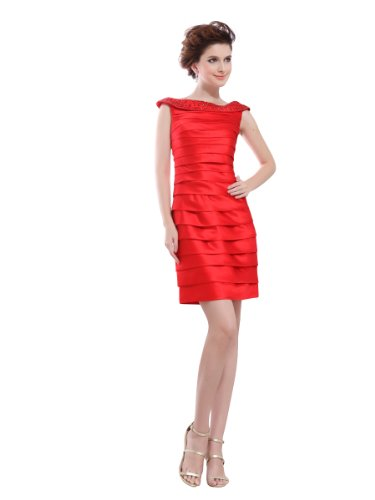 Topwedding Bateau Necklined Homecoming Dress With Knife Pleats,Black,S14