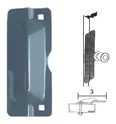 """C.R. Laurence U9500 Crl 7"""" Gray Latch Shield For Flush Mounted Doors front-779839"""
