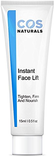 COS Naturals INSTANT FACE LIFT Tighten Firm And Nourish Natural & Organic Ingredients Anti Wrinkle Cream Remove Signs of Aging Fine Lines Eye Puffiness Dark Circles Bags, 15ml 0.5 Oz