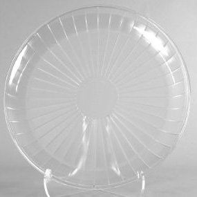 Clear Plastic Serving Platter, Round 18-Inch back-217804