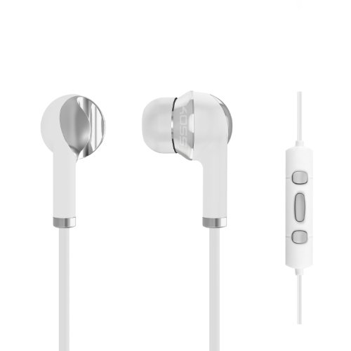 Koss Il200W Ktc Aluminum Ear Buds With In-Line Controls For Iphone/Ipad/Ipod, White