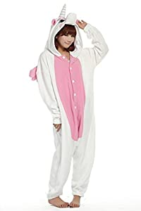 Amour - Kigurumi Sleepsuit Pajamas Costume Cosplay Unicorn Homewear Lounge Wear Ightwear (S, Pink Unicorn)