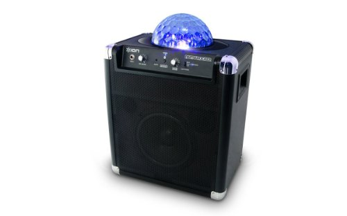 Ion Party Rocker Portable Bluetooth Speaker System With Built-In Light Show Refurbished