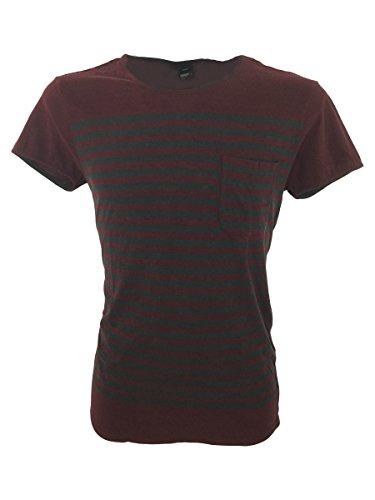 Dr. Denim -  T-shirt - Uomo Grey/Burgundy Large