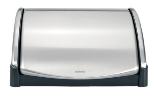 Brabantia Lift Top Bread Bin, Matt Steel Fingerprint Proof