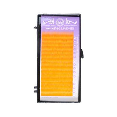 カラーエクステ オレンジ シートタイプ Cカール 14mm×0.15mm