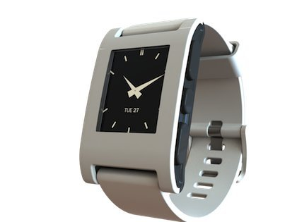 Pebble Smart Watch for iPhone and Android Devices(Arctic