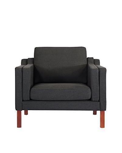 Kardiel Monroe Mid-Century Modern Armchair, Grey