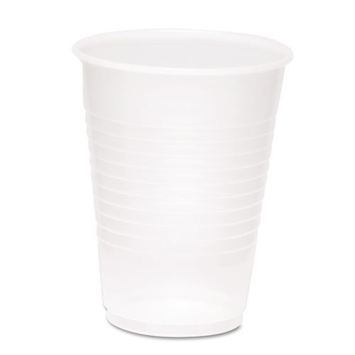 Boardwalk Clear Plastic PETE Cups, 12/14 oz - Includes nine bags of 60 cups each.