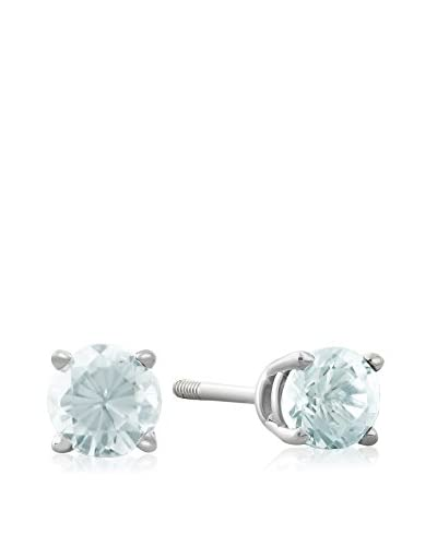 Adoriana 14K White Gold Aquamarine Stud Earrings