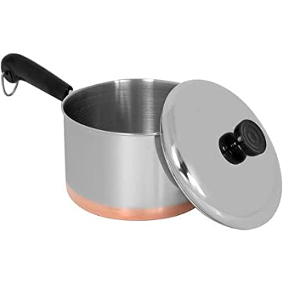 Revere 3-quart Covered Stainless Steel Saucepan