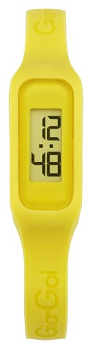 Gio-Goi Unisex 'The Band' Digital Watch GG1001Y With Yellow Rubber Strap