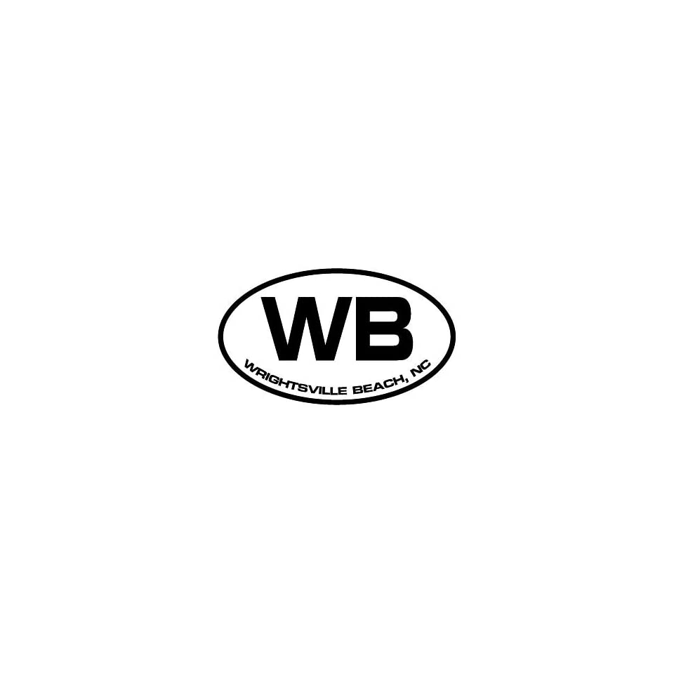 4 Wrightsville Beach NC euro oval style printed vinyl decal sticker for any smooth surface such as windows bumpers laptops or any smooth surface.