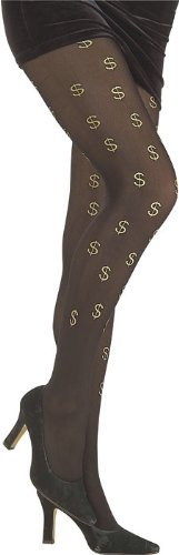 Rubie's Costume Co Gold Dollar Sign Tights Costume - 1