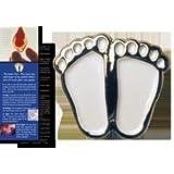 "Pro-Life ""Precious Feet"" Lapel Pin - White"