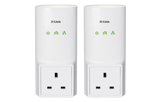 D-Link DHP-P501AV/B Powerline 500M Homeplug AV Passthrough Starter Kit