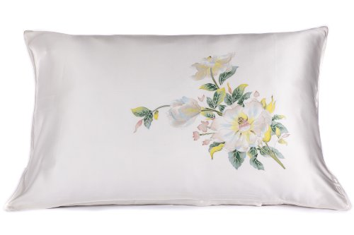 Texeresilk Silk Pillowcase Pillow Cover Case Charmeuse Silk Valentine'S Day Gifts For Women Single Pack Queen / Standard Size Hs0002-Pwh-Q