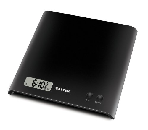 Salter Black Electronic Platform Kitchen Scale