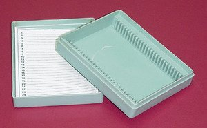 Microscope Slides :: Microscope Slide Box Plastic 25 Microscope Slides from Scientific Equipment Of Houston