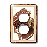 Susan Brown Designs Dessert Themes - Hot Fudge Sundae Cake - Light Switch Covers - 2 plug outlet cover