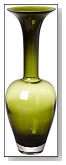 Grecian Olive Green Art Glass Vase