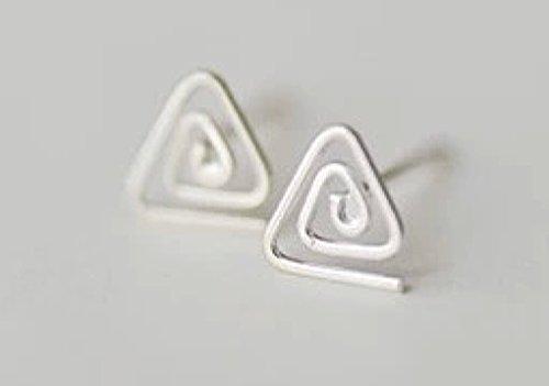 Sterling Silver Triangle Celtic Knot Post Stud Earrings Women Men Jewelry - 1