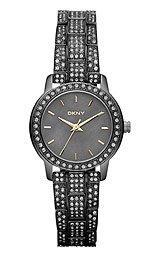 DKNY Gunmetal with Glitz Stainless Steel Women's watch #NY8684
