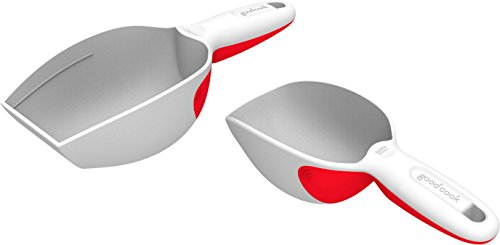 Good Cook Plastic Measuring Scoop Set, 2-Pack (Stainless 1 2 Cup Scoop compare prices)