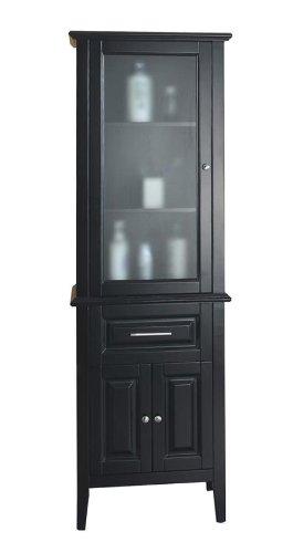 Virtu USA MDC-5324 Walton Vanity Side Cabinet, 23.6-Inch Wide, 15.7-Inch Deep, 71.5-Inch High , Espresso Finish