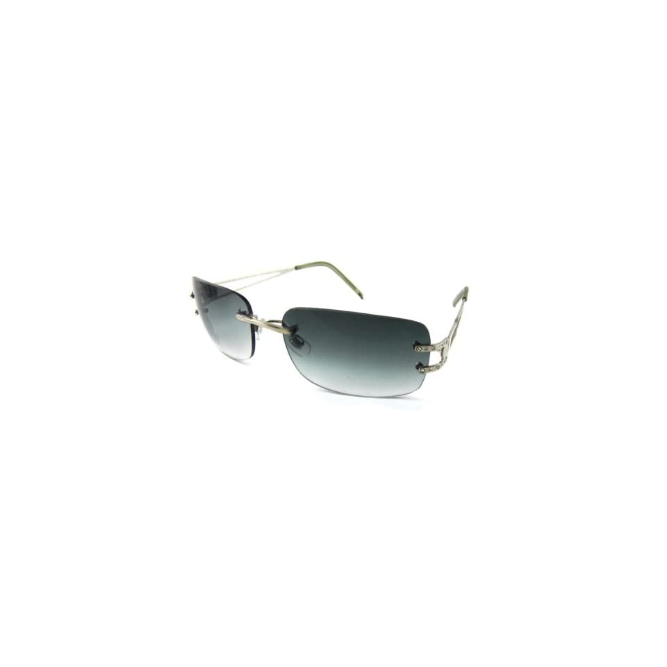 dc7b37d733 Como Unisex Smoke Rectangle Lens Rimless UV Protection Sunglasses on ...