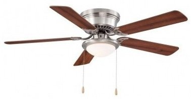 Hampton Bay Hugger 52 In. Brushed Nickel Ceiling Fan by Hampton Bay (Ceiling Light Fixture Fan compare prices)