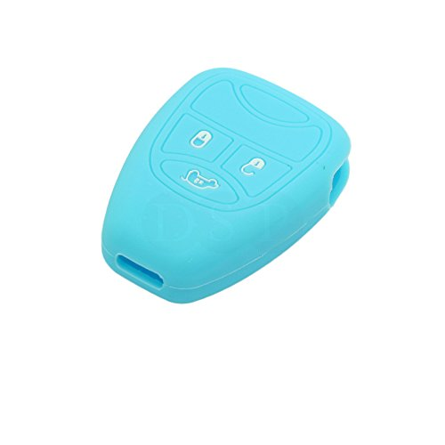 DSP Silicone Cover Skin Jacket fit for JEEP Remote Key Case CV9750 Light Blue (Jeep Emblem Light compare prices)