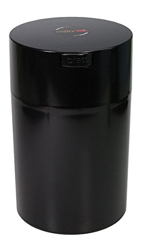 Coffeevac 1 lb - The Ultimate Vacuum Sealed Coffee Container, Black Cap & Body (Vacuum Stash Jar compare prices)