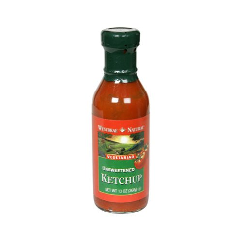 Westbrae Natural Vegetarian Unsweetened Ketchup, 13-Ounce Bottles (Pack of 12)