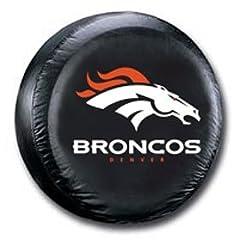 Denver Broncos Black Tire Cover - Size Large by Hall of Fame Memorabilia