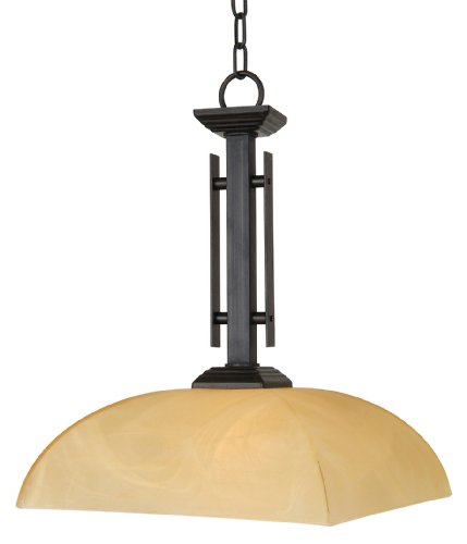 Yosemite Home Decor 95551-1Vb Half Dome Pendant With Parchment Frosted Shade, 1-Light, Venetian Bronze front-250937