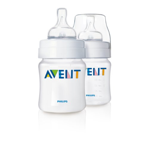 Philips AVENT 4 Ounce Polypropylene Bottle, Dual Pack