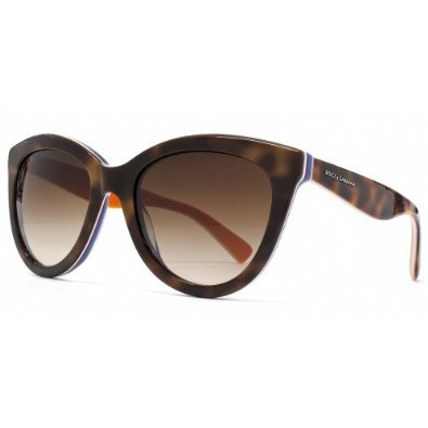 D&G Dolce & Gabbana Women's 0DG4207 Cat-Eye Sunglasses,Havana & Multilayer Orange,55 mm