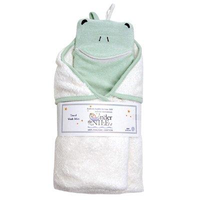 Organic Cotton Hooded Towe & Washclothl - Frog