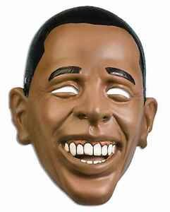 [Barack Obama Mask Plastic Half USA President Costume Accessory PVC Patriotic] (Donald Duck Costume Makeup)